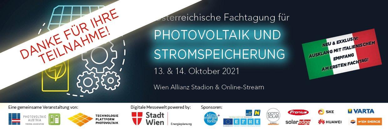 2021 Banner Danke fuer Teilnahme   Photovoltaik Österreich