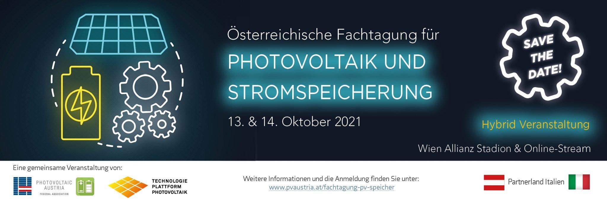 2021 Banner Website | Photovoltaik Österreich