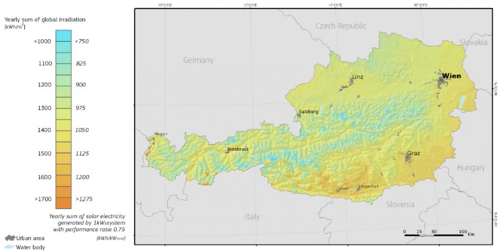 optimal Globalstrahlung | Photovoltaik Österreich