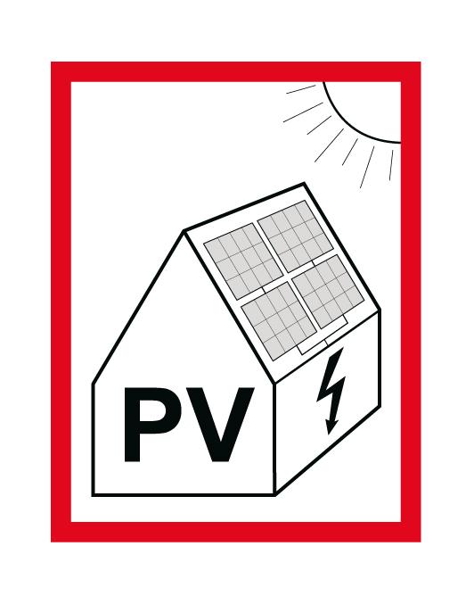 Hinweisschild PV 1 | Photovoltaik Österreich